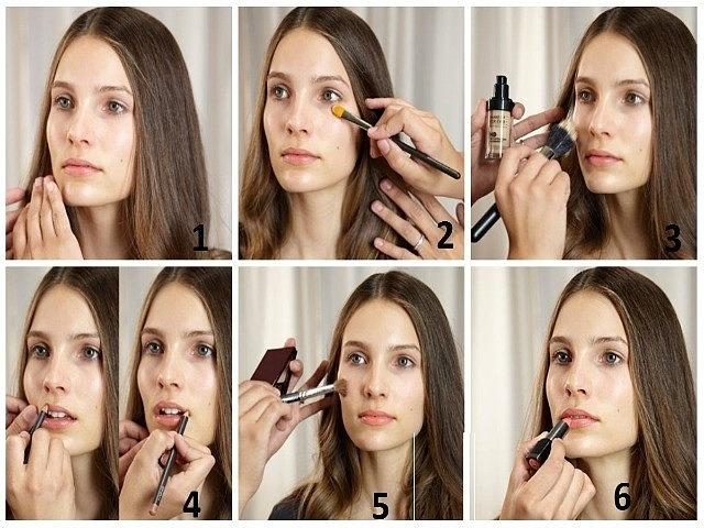 Пошаговая инструкция по макияжу лица